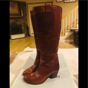 Frye Jackie Tall Riding Boots Burnt Red Size 8 EUC